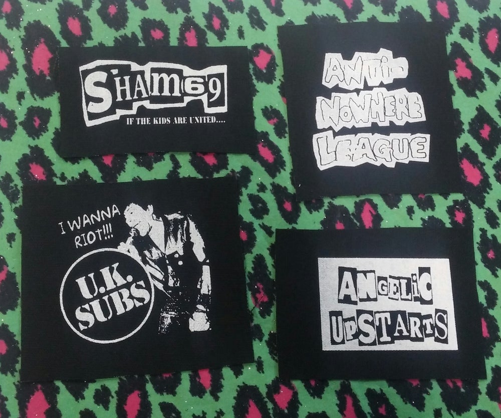 Image of Pick 1 patch - Sham 69, U.K. Subs, Anti-Nowhere League, Angelic Upstarts