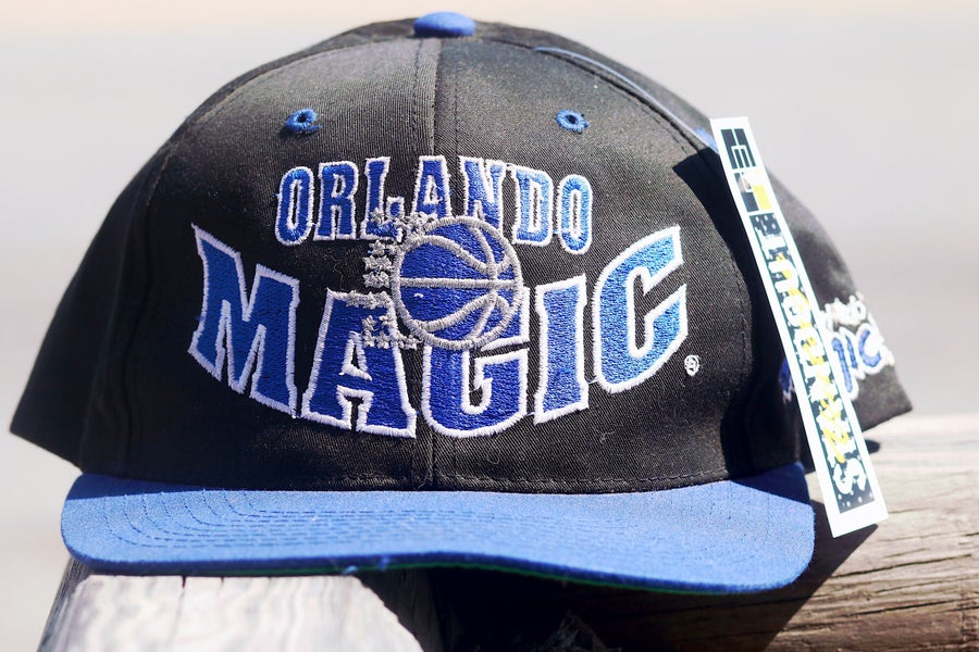 "Image of Rare 90's Vintage The G Cap ""ORLANDO MAGIC"" Original Snapback with Green Under Brim"
