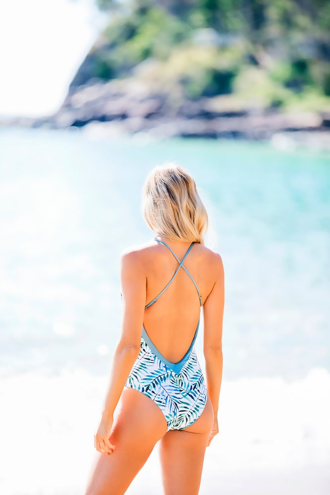 Image of PORTSEA 1PC // MIDNIGHT PALMS & SAPPHIRE