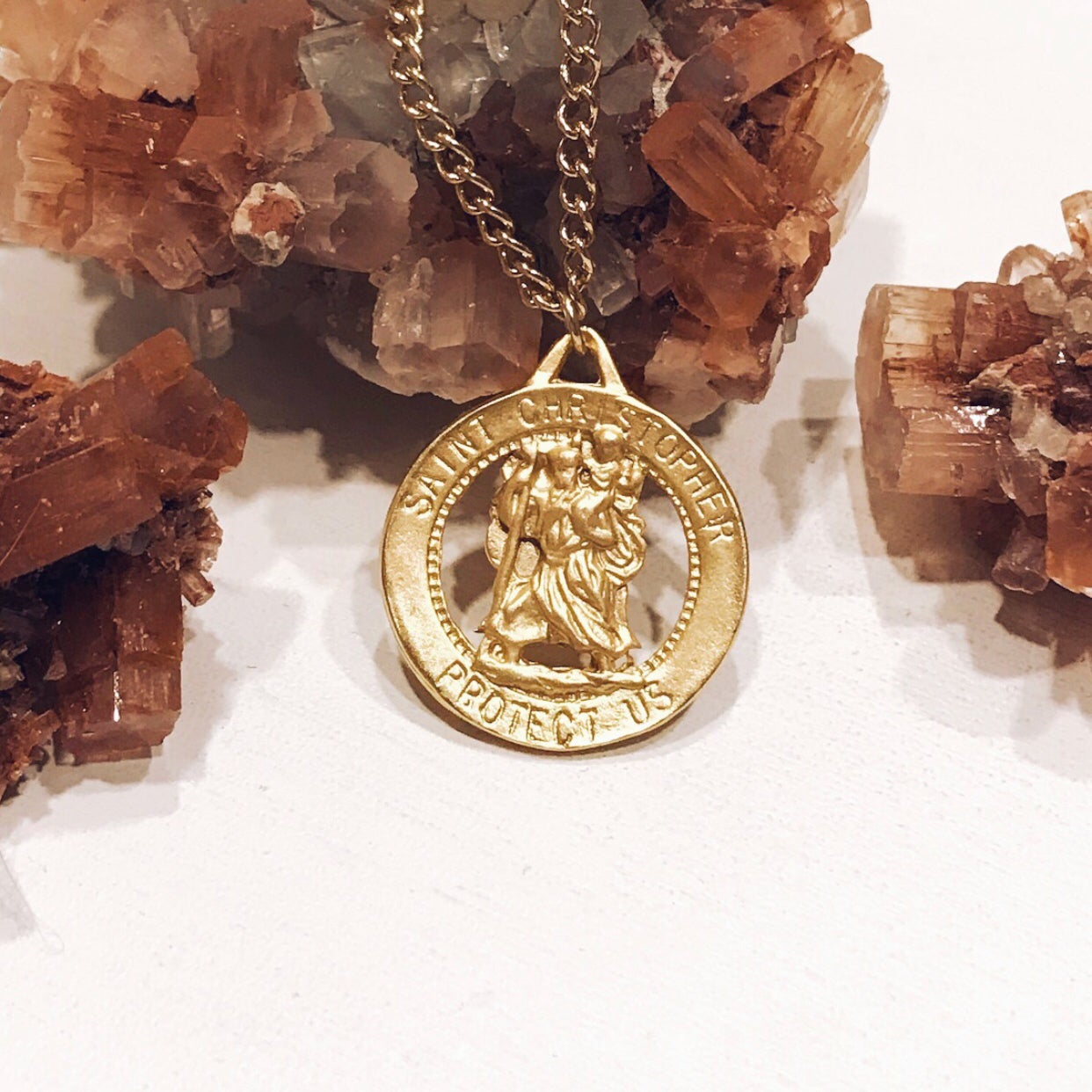 Image of Gold Saint Christopher Necklace