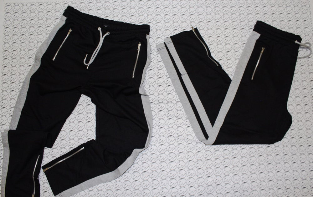 STRIPE JOGGERS (Black/Grey)