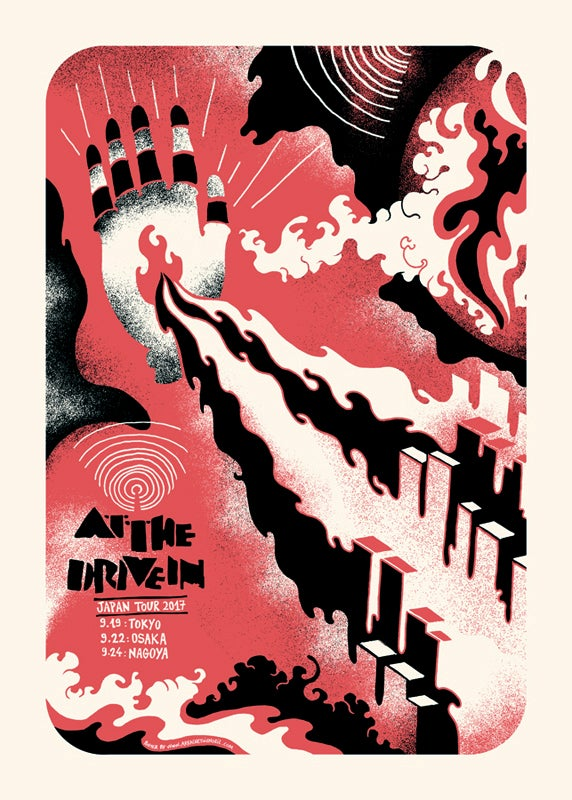 AT THE DRIVE IN (Japan Tour 2017) screenprinted poster
