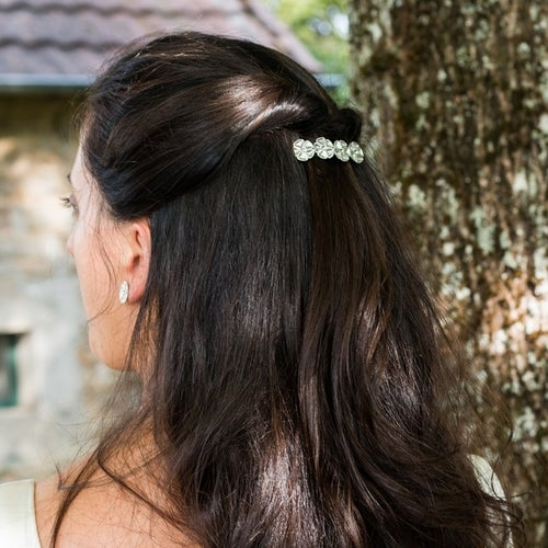 Image of Barrette à cheveux Garden Party - Collection Mariage