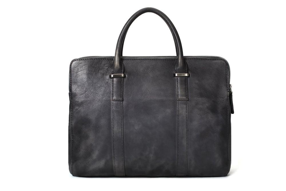 Image of Vintage Vegetable Tanned Leather Briefcase, Men Messenger Bag, Laptop Bag 9043