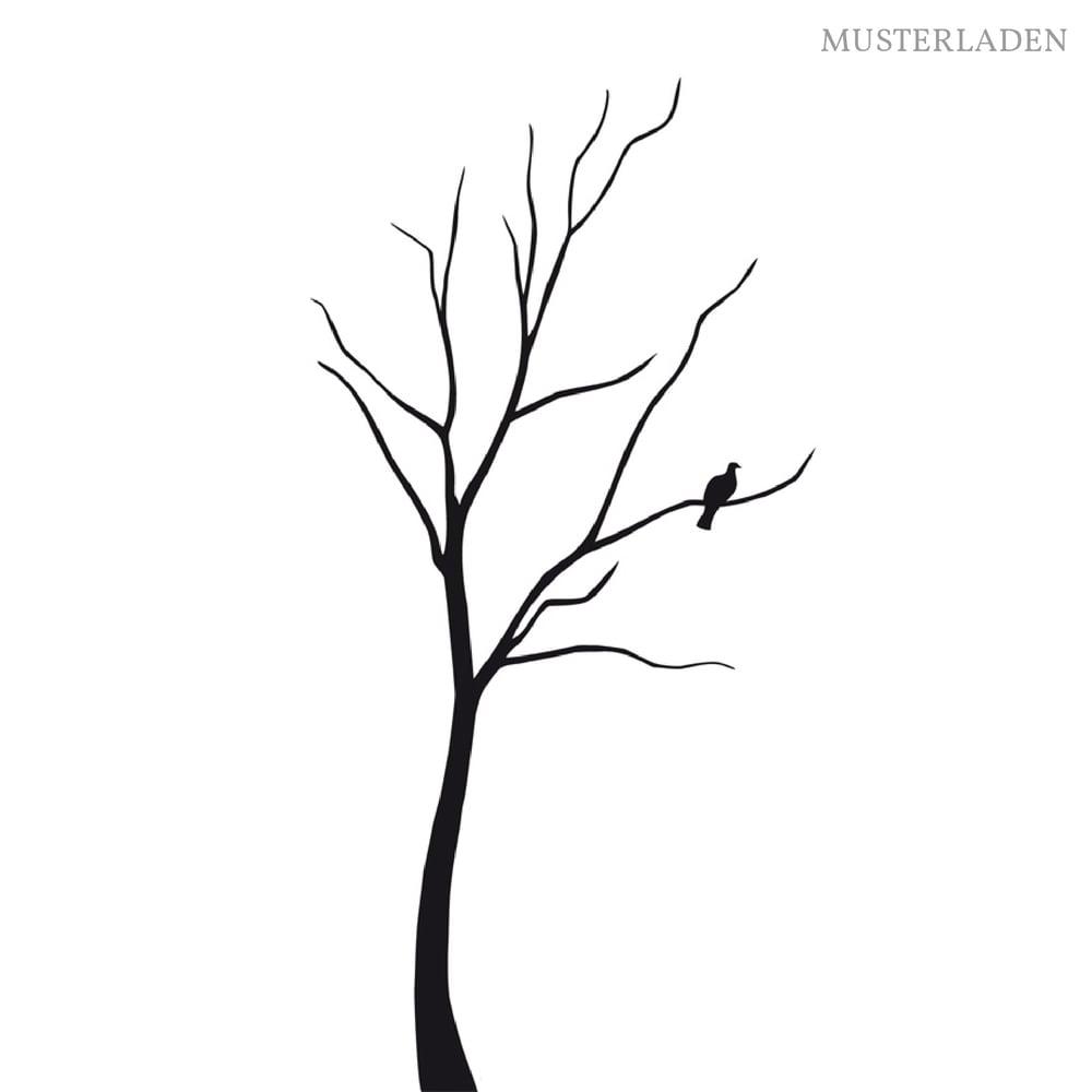 Image of Baum mit Vogel Wandtattoo 180 cm