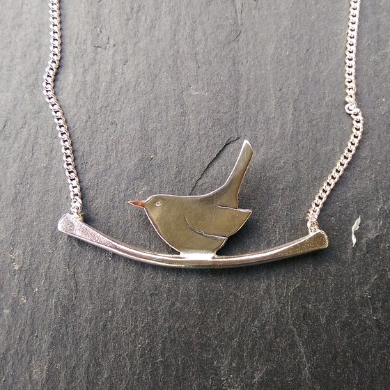 Image of Jenny Wren on a branch Necklace