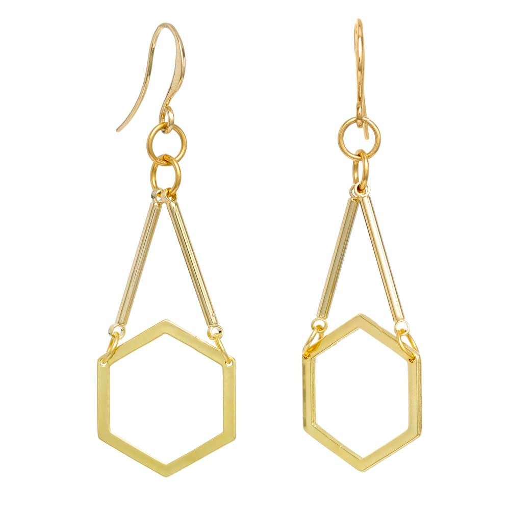 Image of MARBELLA HEXAGON EARRINGS