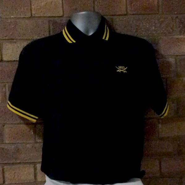 Image of Short Sleeved Black and Yellow Polo (Free UK postage)