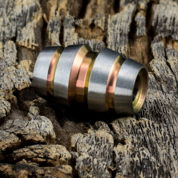 Image of Raptor Rose gold Ti Bead #1