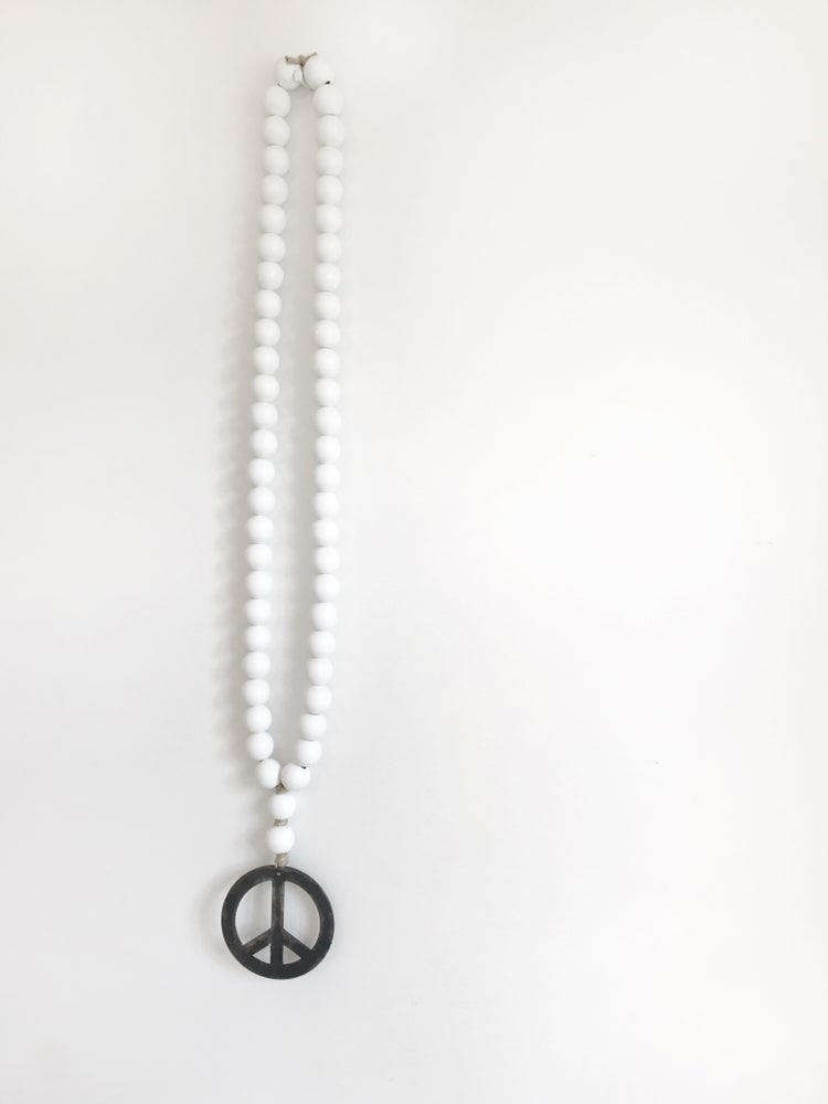 Image of ORIGINAL LOVE BEADS - WHITE PEACE