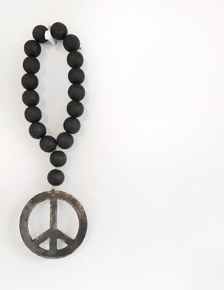 Image of MINI LOVE BEADS - MODERN BLACK PEACE