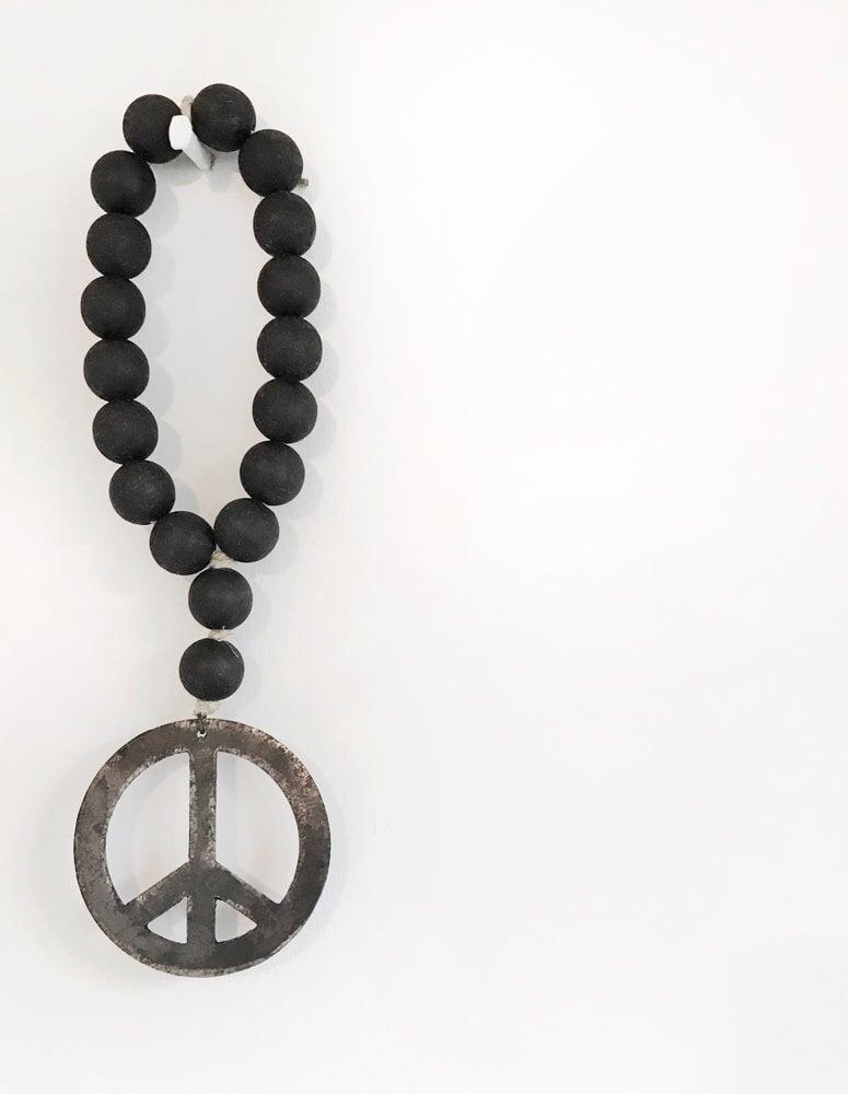Image of MINI LOVE BEADS - MODERN BLACK PEACE