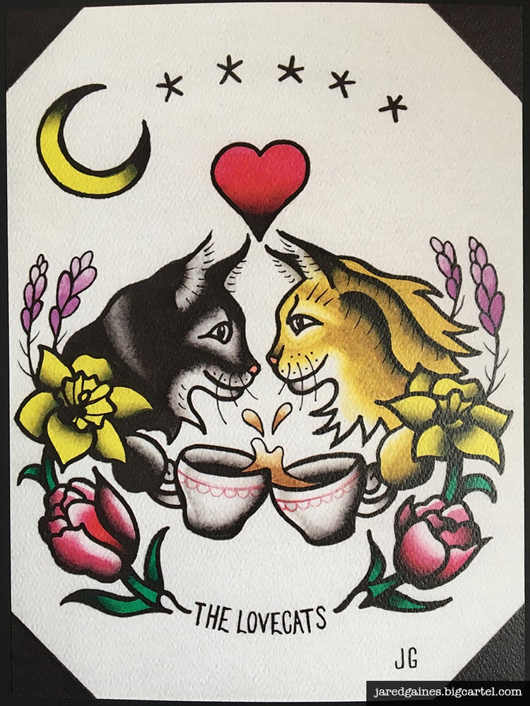 Image of The Cure - The Lovecats Print