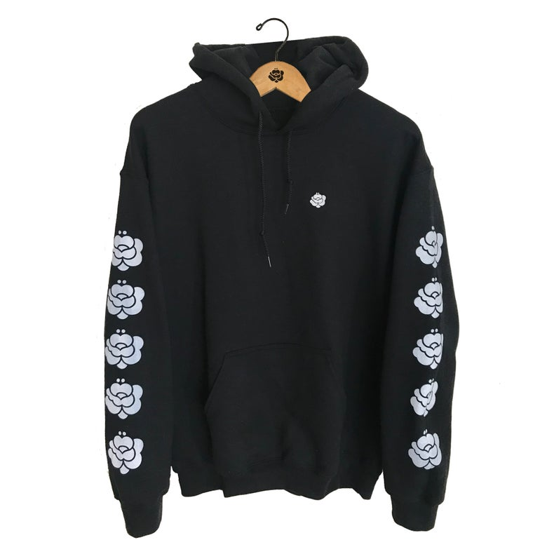 Image of Mirror Sleeve Classic Embroidered Black Pullover