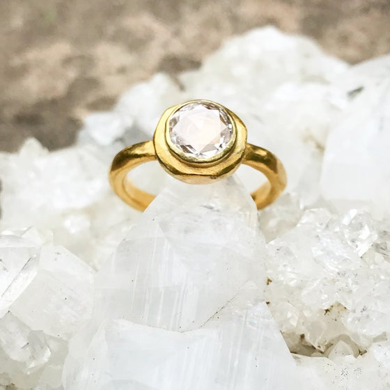 Image of Multi faceted Diamond Ring