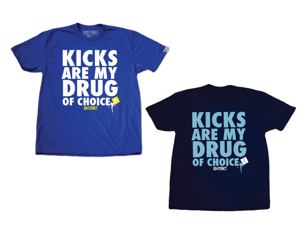 "KICKS  ""ROYAL BLUE OR NAVY "" TSHIRT"
