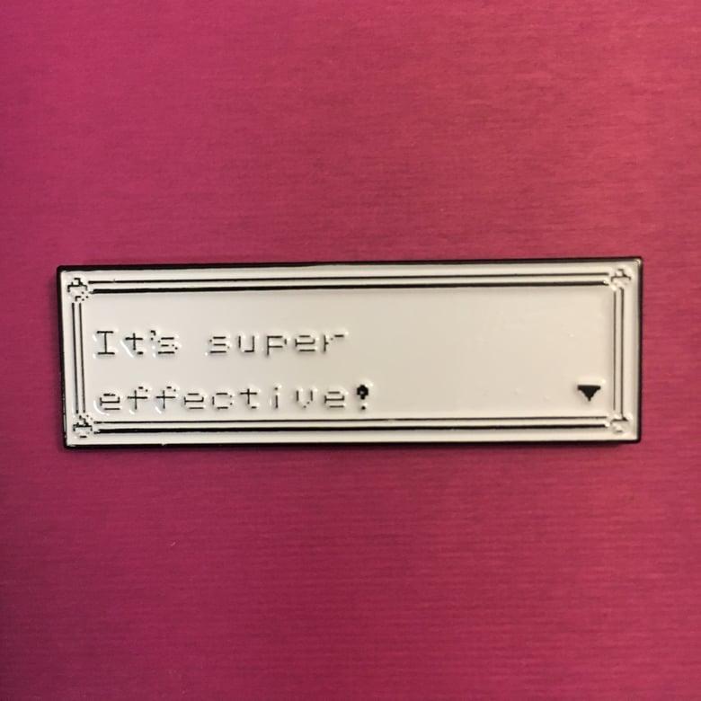 Image of It's Super Effective ! Lapel Pin