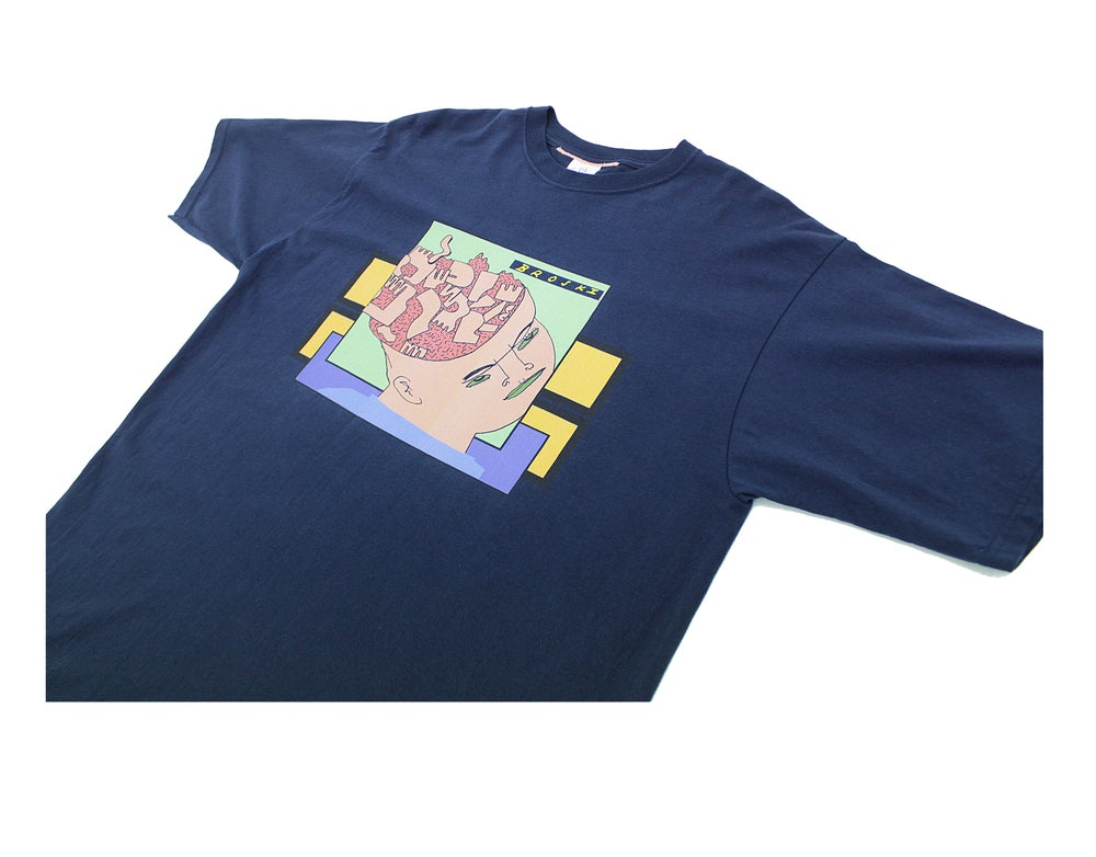 Image of Broski - Brain Broth T Shirt Navy
