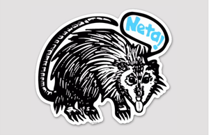 "Image of Tlacuache ""Neta!"" 2.33"" x 2.00"" Die Cut Sticker  - 3 pack"