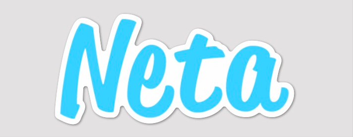 "Image of Official Neta 4.23"" x 2.00"" Die Cut Sticker"