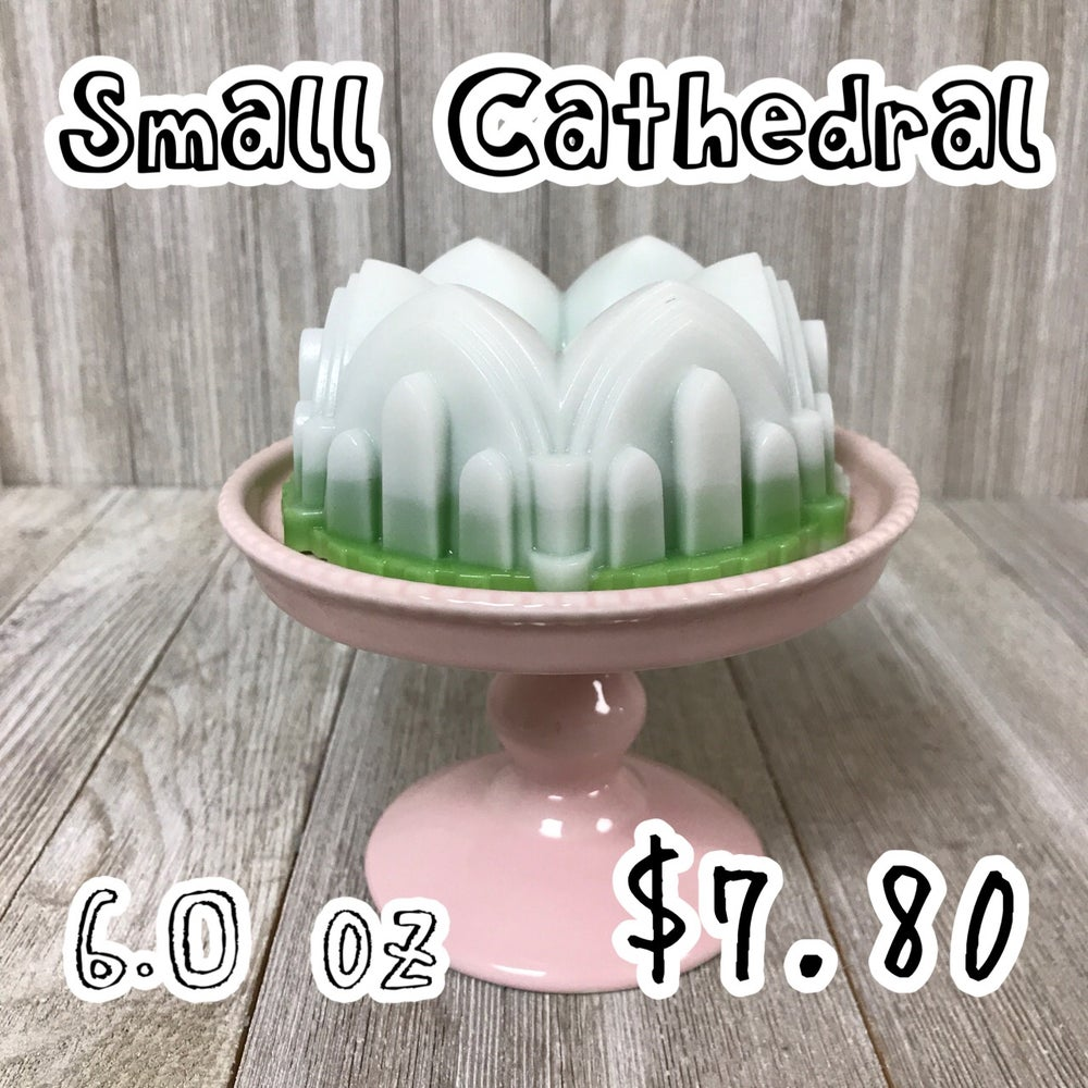 Image of Small Cathedral Wax Cake, 6 oz.