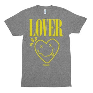 """Image of The """"Lover - Smiley Heart"""" Triblend Tee in Gray"""