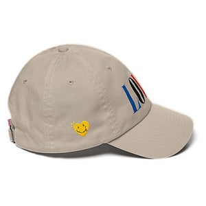 "Image of The ""LOVER"" Dad Hat Multi in Cream"