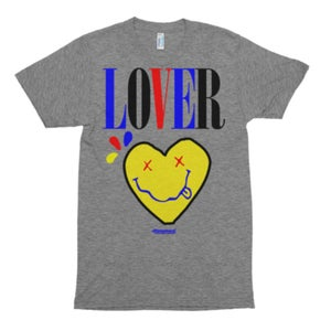 """Image of The """"LOVER"""" Tee Multi in Gray Triblend"""
