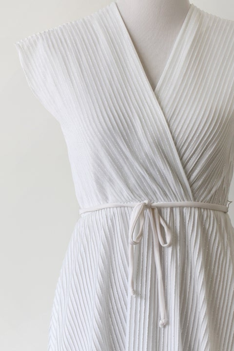 Image of SOLD Sparkling Strands White Dress