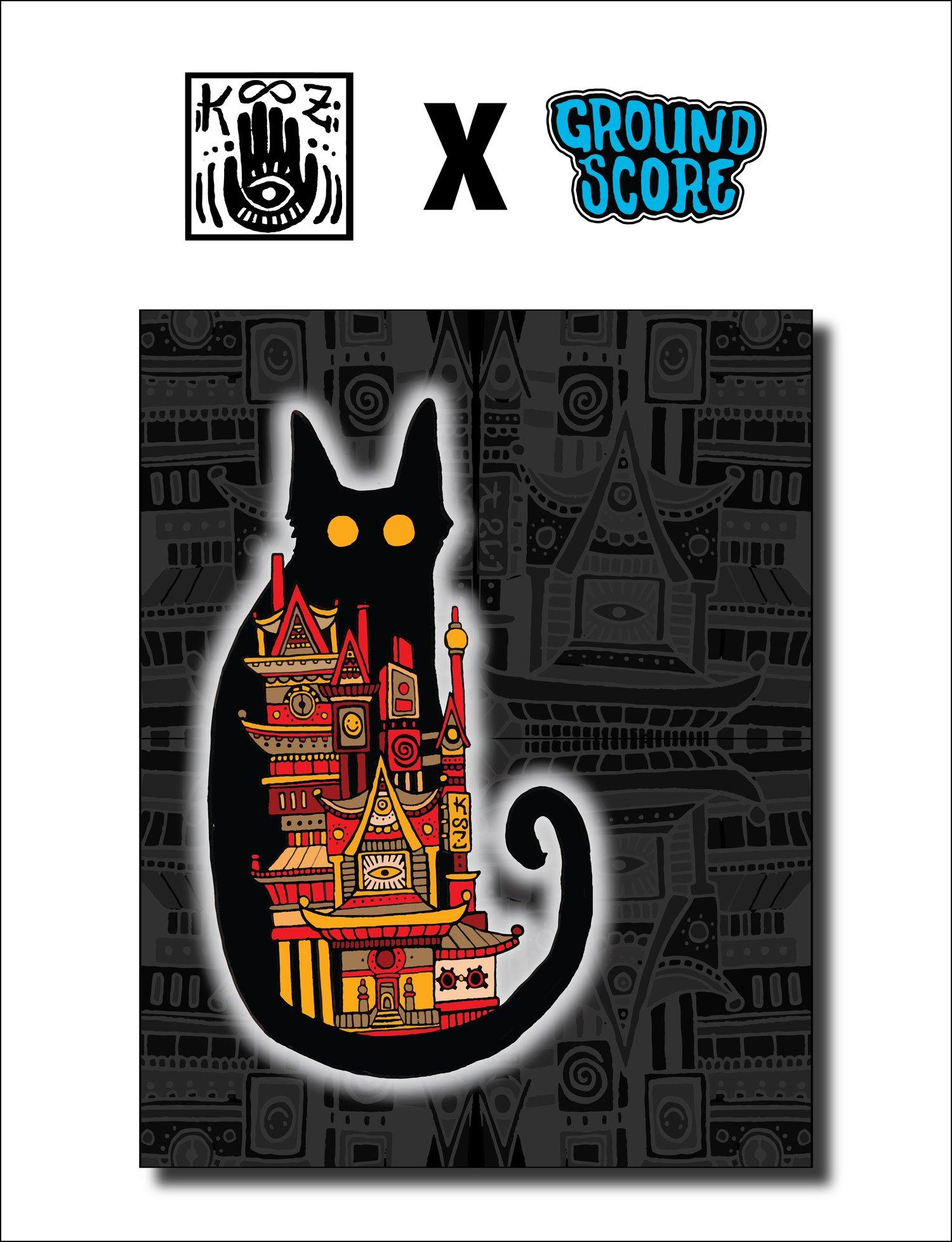 KOOZ - Moon Cat Tapestry (LE 15)
