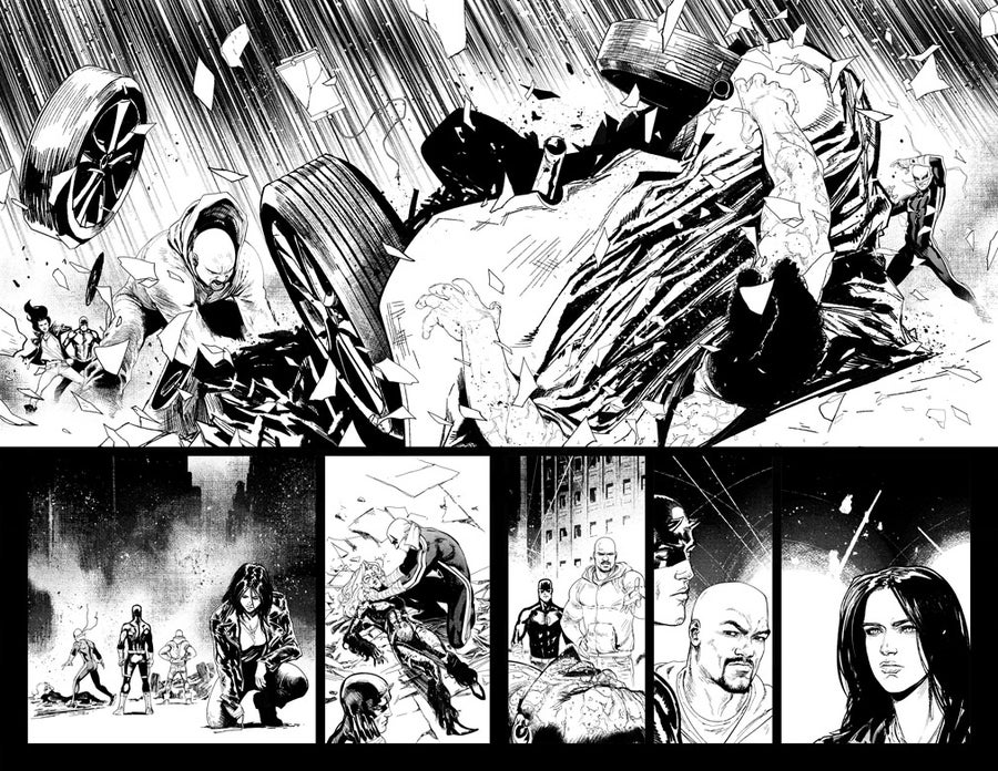 Image of DEFENDERS #6 p.12-13 ARTIST'S PROOF