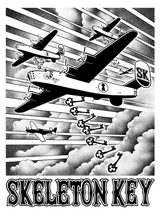 Image of SK Day Raid Bomber White S/S T-Shirt