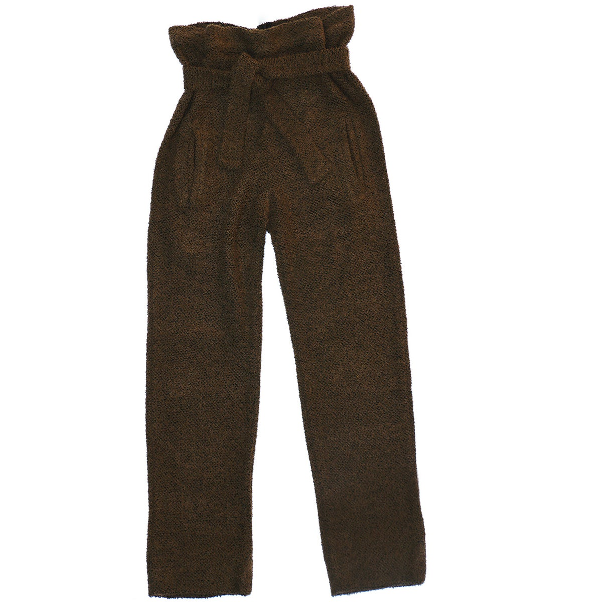 COZY'BAE OVERSIZED SACK WAIST TROUSERS- OLIVE/BROWN