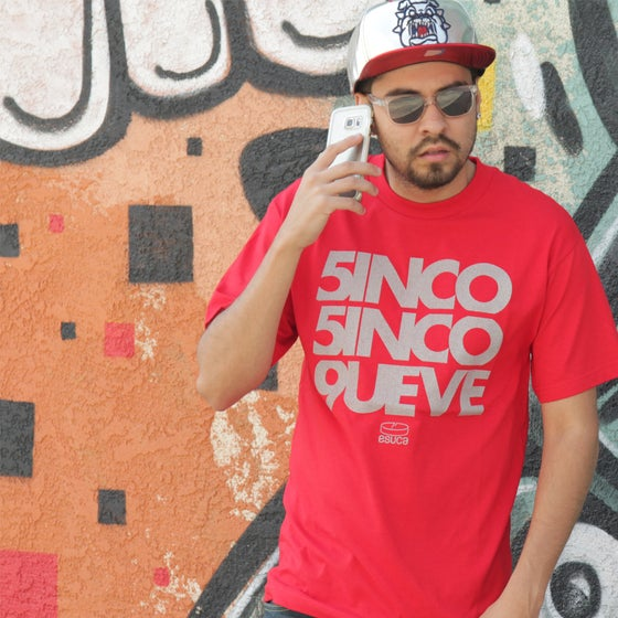 Image of 3M Reflective 5inco 5inco 9ueve Tees (Black/Red)