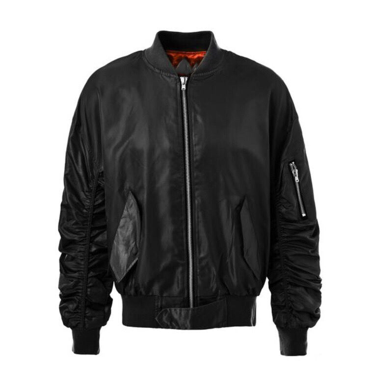 Image of Black Bomber Jacket