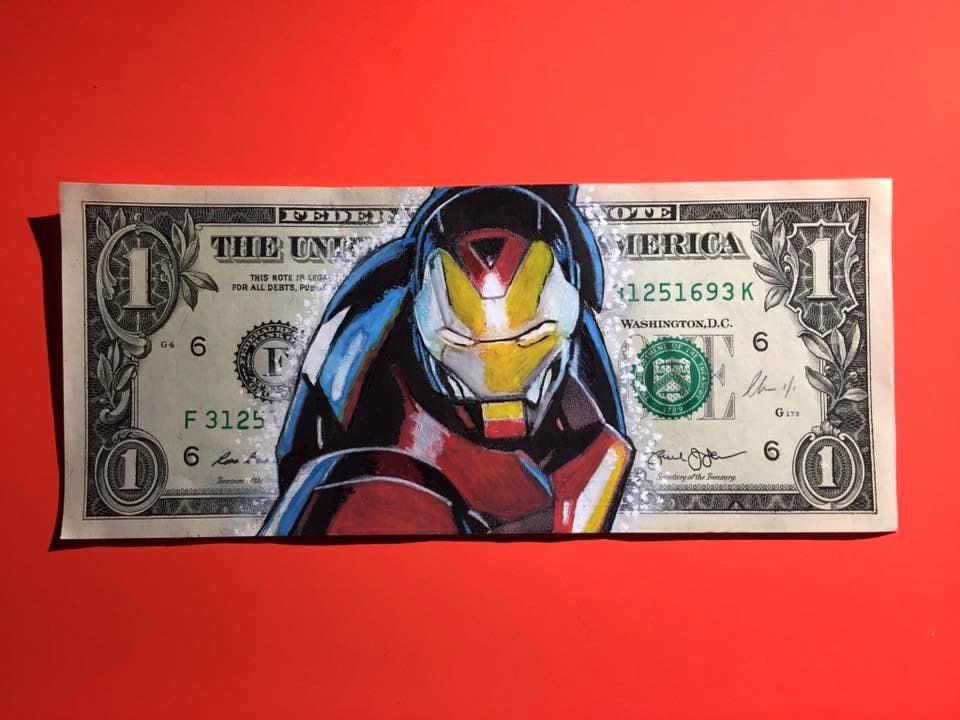Image of Iron awe Money Art