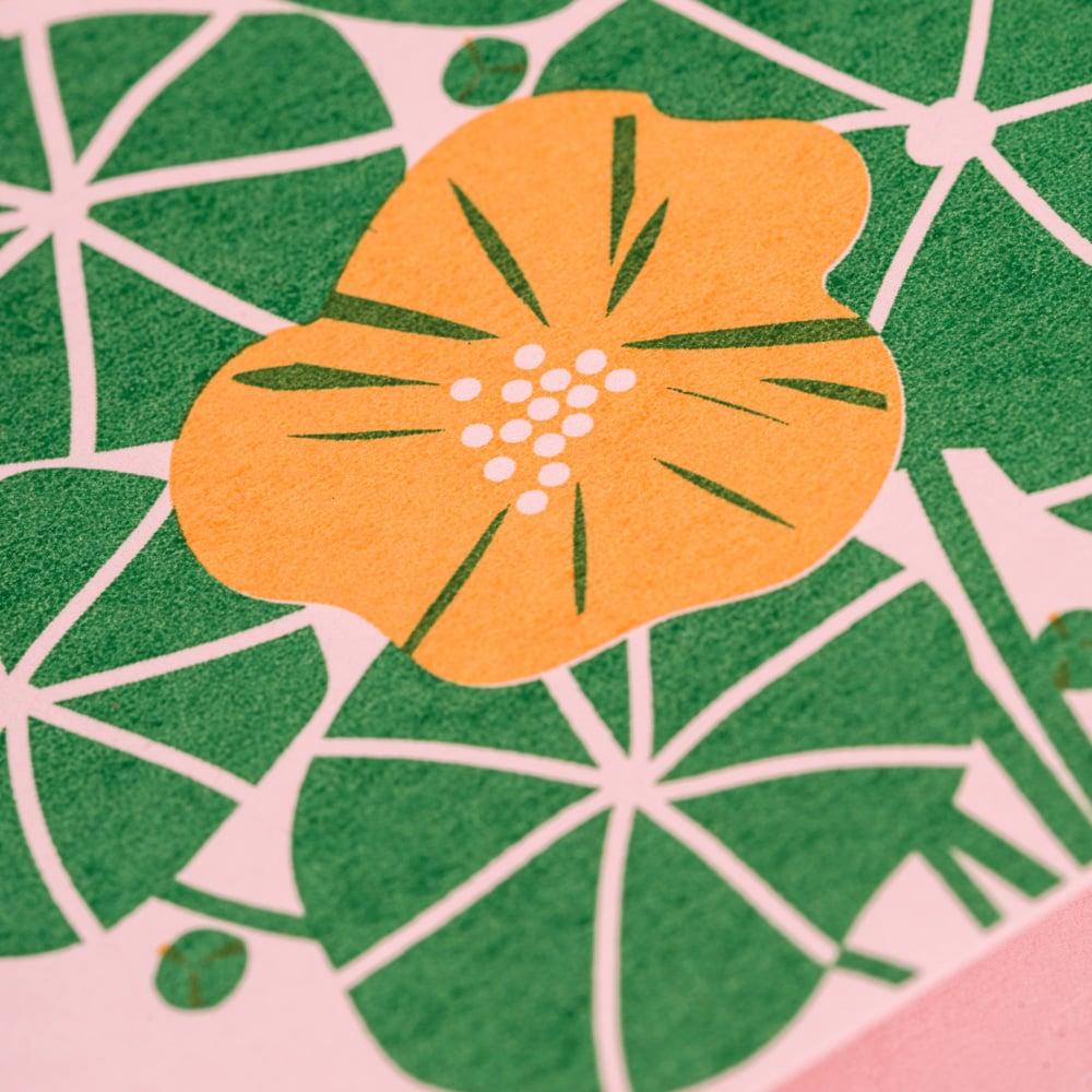 Image of Nasturtium Card