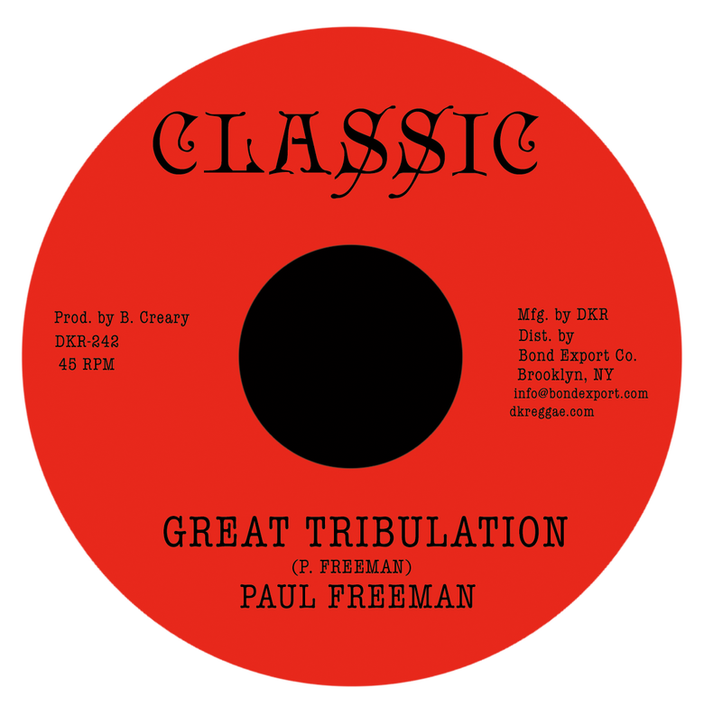 "Image of Paul Freeman - Great Tribulation 7"" (Classic)"