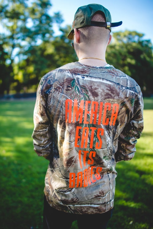 Image of Camo long sleeve tee