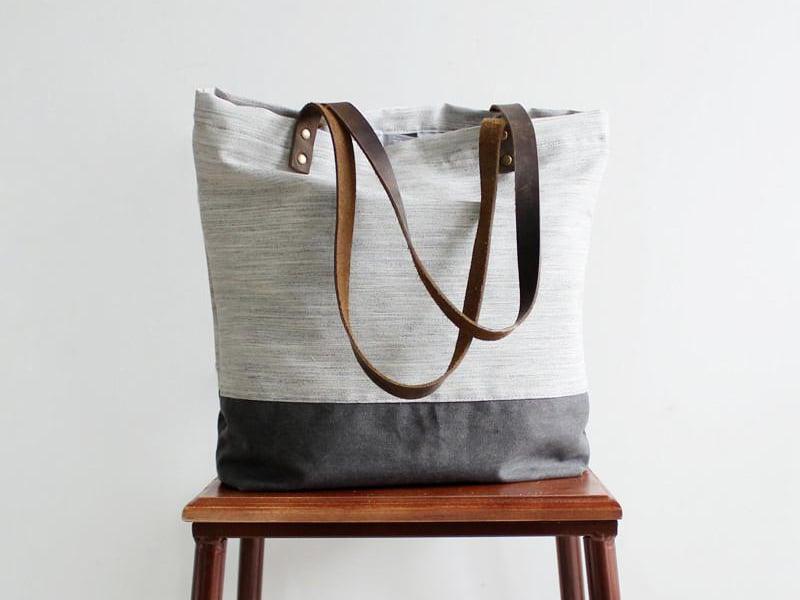 5c3e6c3a8bf Handmade Canvas Tote Bags, Women Shoulder Bags, College Handbags 14040