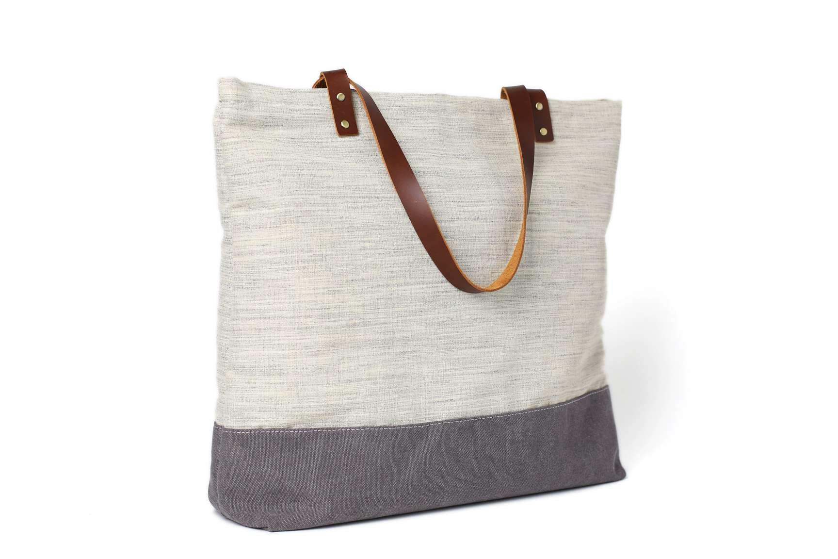Handmade Canvas Tote Bags, Women Shoulder Bags, College Handbags 14040