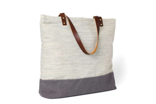 Image of Handmade Canvas Tote Bags, Women Shoulder Bags,  College Handbags 14040