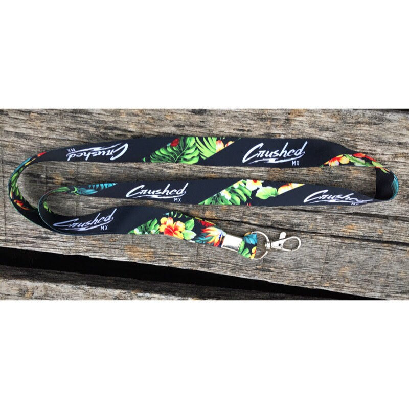 Image of Black Tropical Crushed MX Lanyard