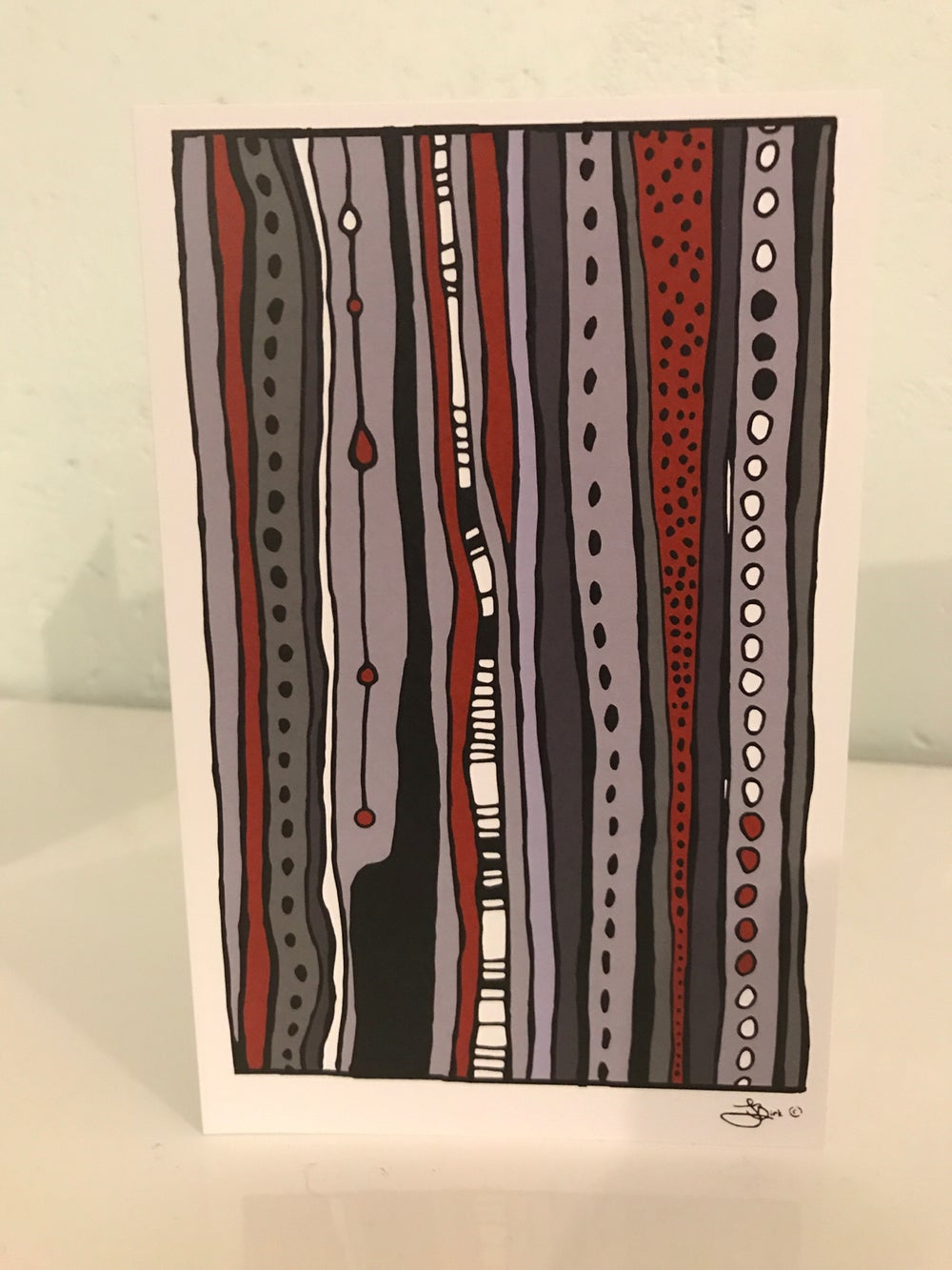 4 pack of Linear Art Cards, artwork by Jessica Birk