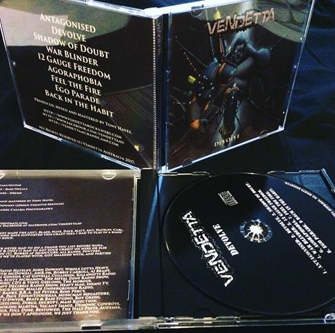 Image of Vendetta 'Devolve' CD