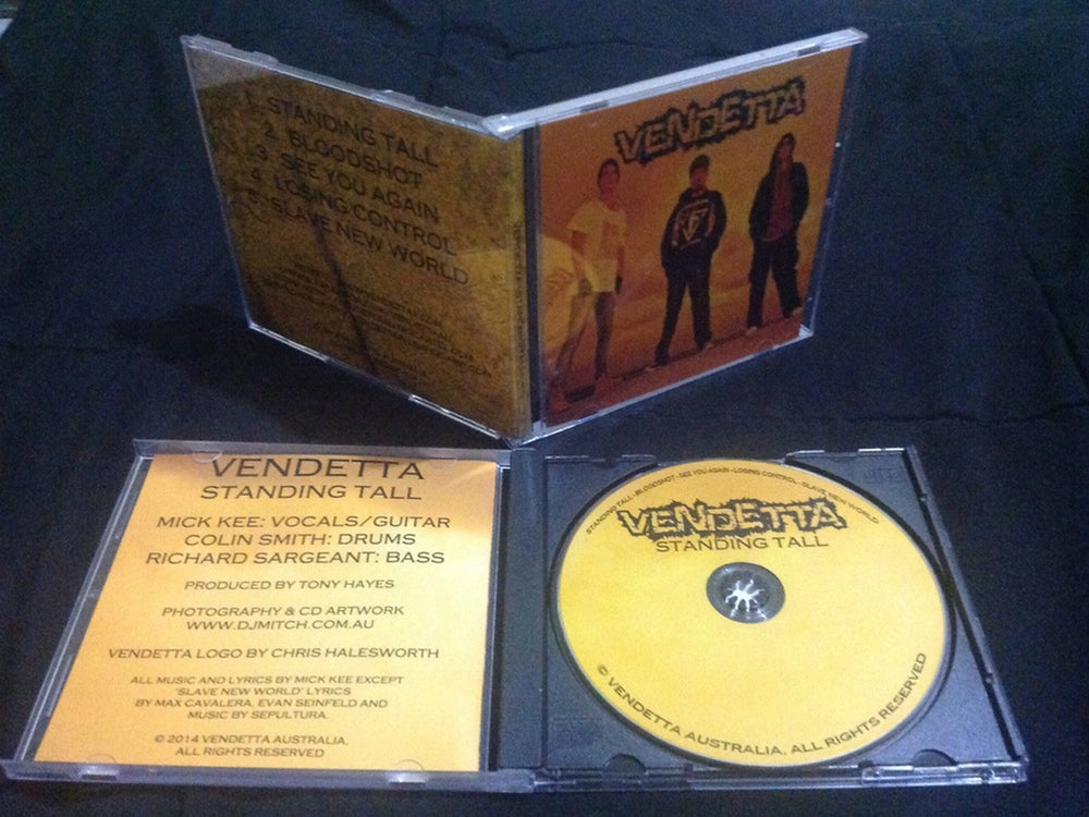 Image of Vendetta 'Standing Tall' EP/CD