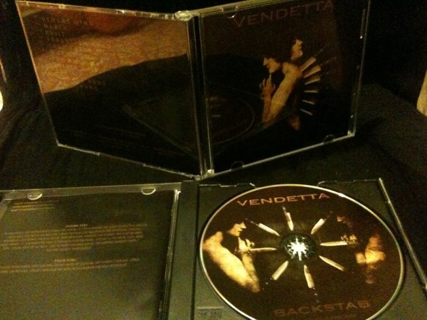 Image of Vendetta 'Backstab' CD.
