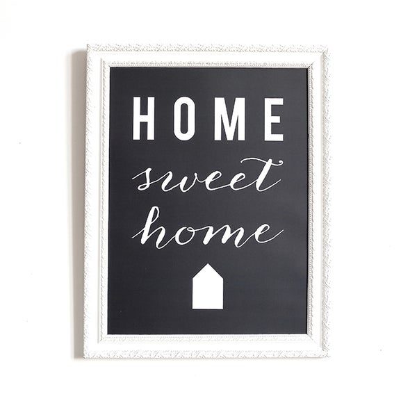 Image of AFFICHE 30x40 CM / HOME SWEET HOME / ARDOISE