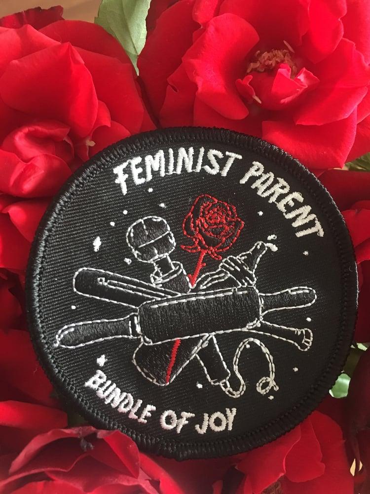 Image of feminist parent patch