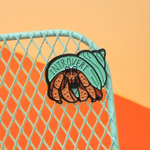Image of *NEW* Introvert Hermit Crab enamel pin - lapel pin